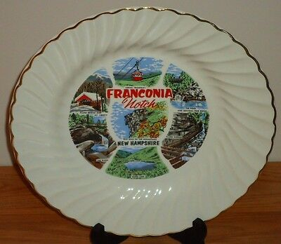 """FRANCONIA NOTCH New Hampshire collector's plate 10"""""""