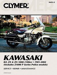 Clymer Workshop Service Repair Manual Kawasaki K Z1000 K Z1100 Zn1100 Zx1000