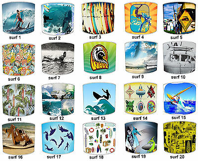 Lampshades Ideal To Match Surfing Wallpaper Surfing Duvets & Surfing Wall Decals