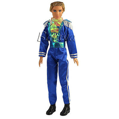 Prince Clothes Formal Outfits with High Boots for Barbie Boy Friend Ken Doll