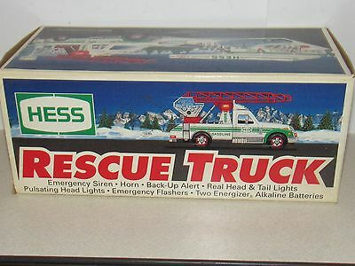 Vintage 1994 Hess Rescue Truck Mib - Free Us Shipping!