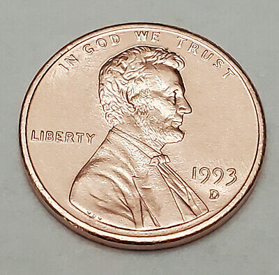 1993 D Lincoln Memorial Cent / Penny  **FREE SHIPPING**