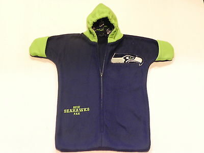 NHM - NFL - SEATTLE SEAHAWKS FLEECE BABY BUNTING COAT Newborn to 6 Months