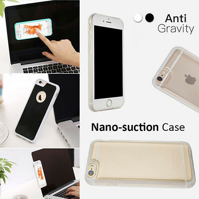 New Anti Gravity Nano Suction Sticky Selfie Phone Case Cover For iPhone&Samsung