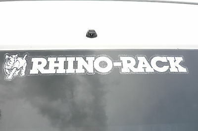 "RHINO RACK Promotional ""DECAL"" (WHITE) MANY APPLICATIONS - ONLY $4.99 post free"