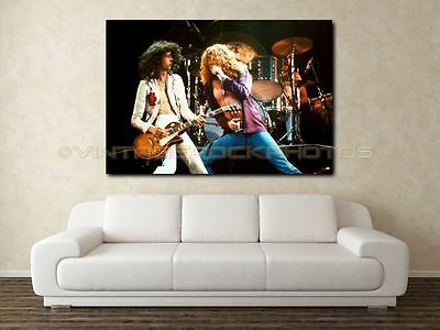 """Jimmy Page Led Zeppelin 20x30"""" Art Gallery Canvas Print Framed Gilcee Photo C38"""