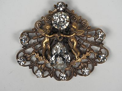 Vintage Joseff of Hollywood Brosche, Brooch, Engel, Angels