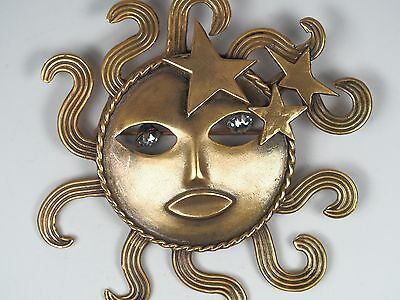 Joseff of Hollywood Sonnen Brosche, Sun God Brooch