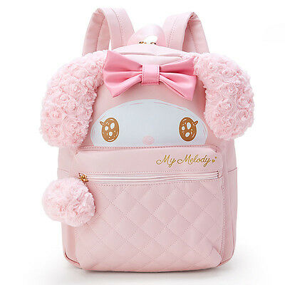 My Melody Face Canvas Backpack Glitter Soft ❤ Sanrio Japan