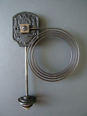 Vintage mantel clock chime gong with metal coil spares parts