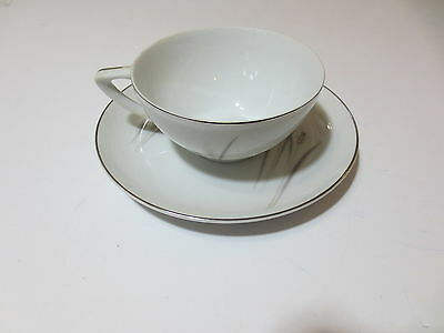 Cup and Saucer Platinum Wheat Fine China Japan very nice condition