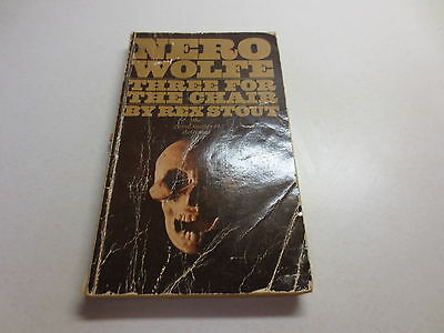 Rex Stout A Nero Wolfe Mystery vintage paperback Three For the Chair Bantam