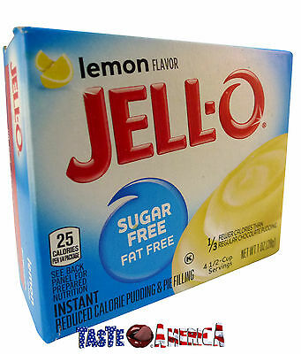 Jell-O Sugar Free Lemon Instant Pudding & Pie Dessert Mix 28g Jello