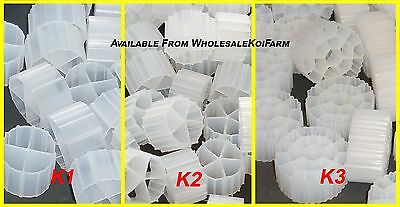 2 Cubic Feet (56.63 Liters)  K1, K2, K3 moving bed filter media - FREE SHIPPING