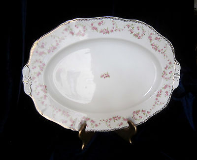 """Alfred Meakin Royal Semi-Porcelain """"Harmony Rose"""" Large Oval Platter - 14 in."""