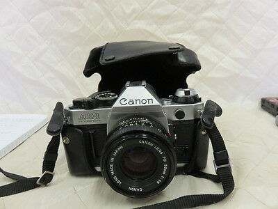 Canon AE-1 Vintage Camera with Lens/Case/Eyecup