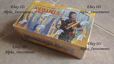 MTG Magic Gathering Dragon's Maze Booster Box SEALED Booster Pack Box ENGLISH