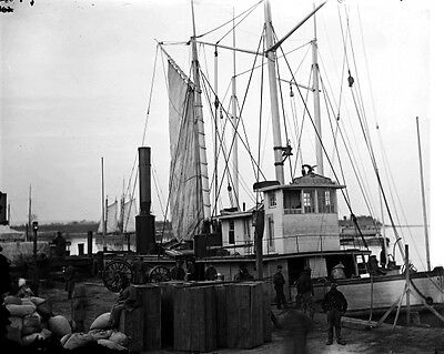 New 11x14 Civil War Photo: Supply Ships at Wharf, Aquia Creek Landing