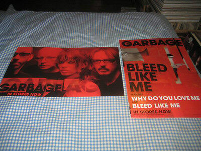GARBAGE-(bleed like me)-1 POSTER-2 SIDED-11X17-NMINT-RARE