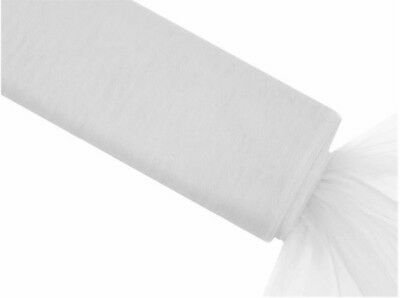 White 1.4m x 36m Tulle Bolt Roll - Large Format Lots of Colours in stock