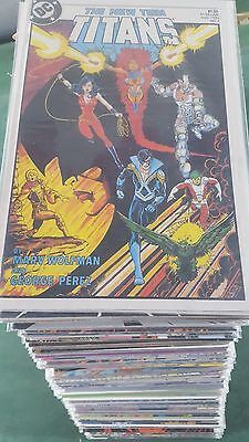 The New Teen Titans 1984 #0 1-129 HUGE Lot of 119 + Annuals High Grade bag board