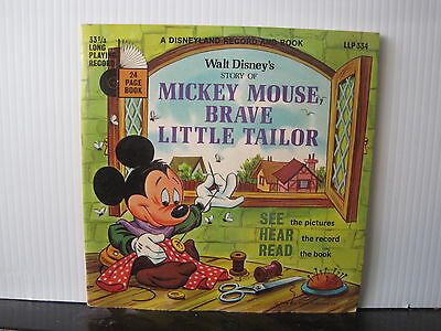 "WALT DISNEY'S Mickey Mouse Brave Little Tailor DISNEYLAND 7"" + BOOK LLP 334"