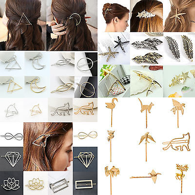 Fashion Cute Women Gold Silver Animal Flower Hairpin Hair Clip Hair Accessories