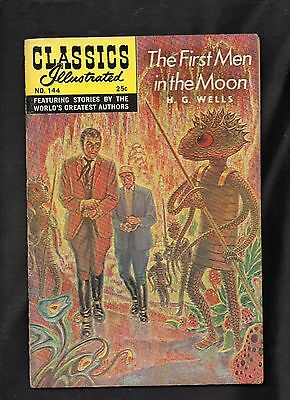 Classics Illustrated #144 G+  Hrn169 (The First Men In The Moon) H G Wells