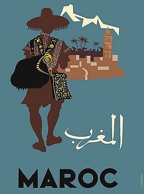 Maroc Morocco Africa Moroccan African Vintage Travel Advertisement Poster