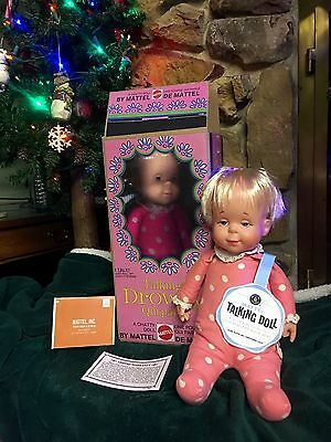1964' DROWSY DOLL. Blond w/vinyl  hands.  Clean & Talking/ Repo Box