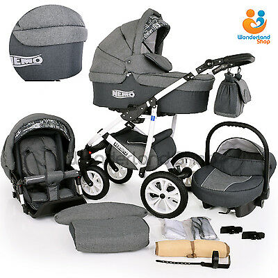 New Cosatto Giggle Pitter Patter 3 In 1 Combi Pram