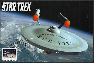 Canada # 2913.1 - Star Trek 50Th Ann - Starship Enterprise Stamp On Maximum Card
