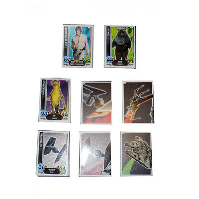 Topps Star Wars Force Attax The Force Awakens Complete Base Card Set Price Cut!!