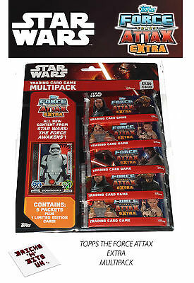 Topps Star Wars Force Attax Extra Multipack With Stormtrooper Limited Card