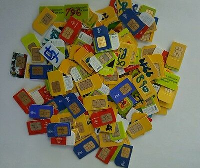 SIM Cards for Scrap Gold Recovery - 100 Assorted Used Cards - Free Shipping