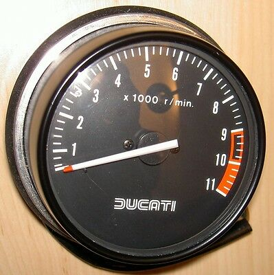 1980's Ducati 0664-38-030 NOS 11,000 RPM ND tachometer matches either speedo