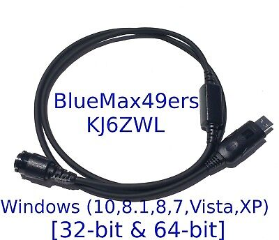 USB Programming Cable Motorola PM1500 XTL1500 XTL2500 HKN6184C + CPS  + Support
