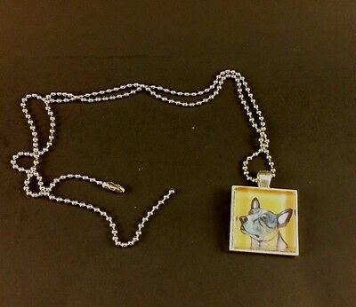 Australian Cattle Dog Blue Heeler Dog Pendant Necklace Jewelry 12 inches