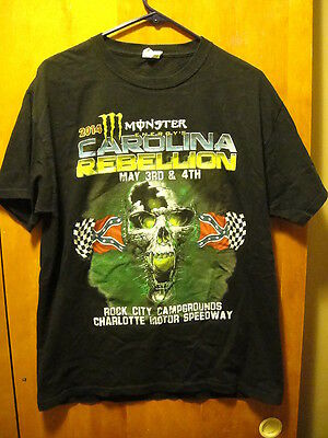 CAROLINA REBELLION 2014 ~ Large ~A7X Rob Zombie FFDP Kid Rock 2 Sided T Shirt