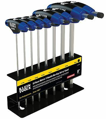 """Klein Tools JTH68M 8PC 6"""" Metric Journeyman T-Handle Set with Stand"""