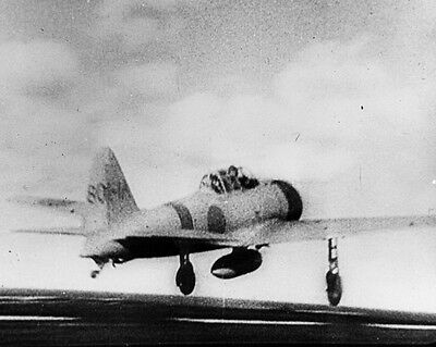 New 8x10 World War II Photo: Japanese A6M2 Zero Take Off for Pearl Harbor Attack