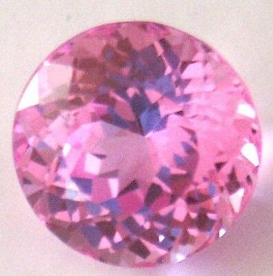 Top Synthetic Medium Pink Sapphire Double Round Brilliant cut, sizes 3 - 7.5 mm