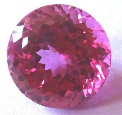 Top Synthetic Hot Pink Sapphire Double Round Brilliant cut, sizes 3 - 7.5 mm