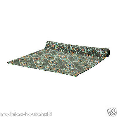 Ikea JUDIT 100% Cotton Dark Green Patterned Sstylish Table-Runner 40x140 cm-d110