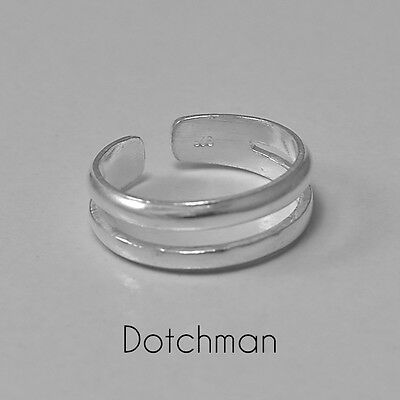 925 Sterling Silver Joined Double Toe Ring