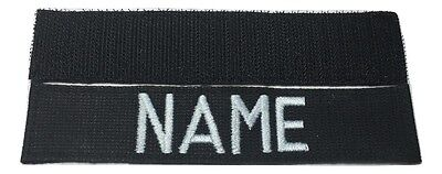 BLACK Custom NAME TAPE with Fastener - US ARMY USAF MARINES POLICE Military Tape