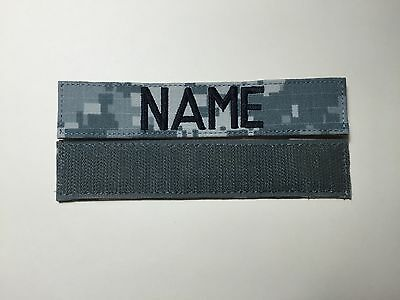 "ACU Custom Name Tape with Fastener  5"" Length New - US Army Military"