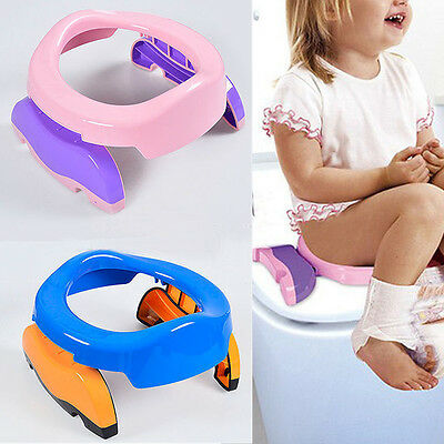 Foldable Portable Travel Potty Chair Toilet Seat For Baby Kids Plastic Seat Lip
