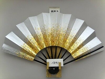 JAPANESE Sensu Fan With the wind Folding SILVER New 1841 MADE IN JAPAN