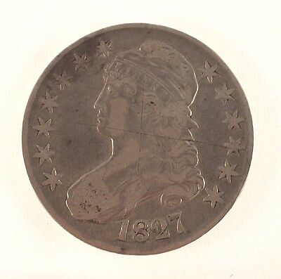 1827 Capped Bust Half Dollar - Good Condition
